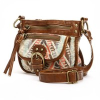 Mudd® Anna Striped Geometric Canvas Crossbody Bag