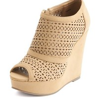 PERFORATED NUBUCK WEDGE BOOTIE