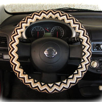 by (CoverWheel) Steering wheel cover for wheel car accessories Zigzag, Chevron print