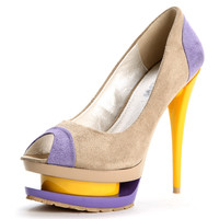 Lucy Pastel Color Block Pumps
