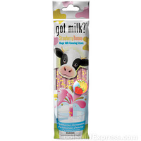 Got Milk Drinking Straws With Flavor Crystals Banana Flavor, Fun & Unique Gifts