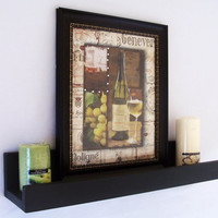 Wood Shelf    Shelf with Ledge  Picture Shelf  by LegacyStudio