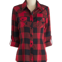 Simply Scout Top in Red | Mod Retro Vintage Short Sleeve Shirts | ModCloth.com