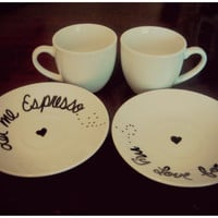 Let Me Espresso My Love For You---Couple Espresso Set