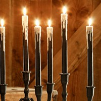 Drippy Wax Taper Candle, Set of 3