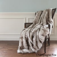 Wild Mannered Luxury Long Hair Faux Fur 58x60 Lap Throw | Overstock.com