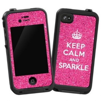 "Keep Calm and Sparkle ""Protective Decal Skin"" for Lifeproof iPhone 4/4s Case:Amazon:Cell Phones & Accessories"