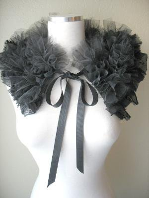 BLACK RUFFLED COLLAR The Black Swan by MaggieGlynn by MaggieGlynn