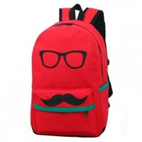 Easter Gifts Cute Funny Canvas Mustache With Glasses School Campus Bag Backpack Book:Amazon:Sports & Outdoors