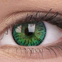 Elegance Green Colour Contact Lenses | EyesBright.com