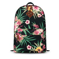 Jasper Floral Prints Canvas Backpack