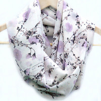 Floral Infinity Scarf. Loop Scarf. Women Accessories