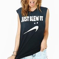 Blew It Muscle Tee