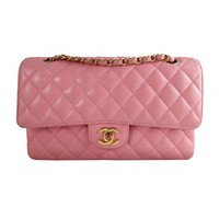 Chanel Pink Caviar 10inch Medium 2.55 Classic Double Flap Bag, Rare