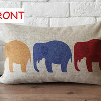 Throw Pillow Cover /Three color Elephant Style Design by soul8soul