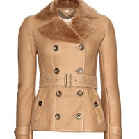 Chedleigh Double-Breasted Shearling Jacket ∇ Burberry Brit ∫ mytheresa