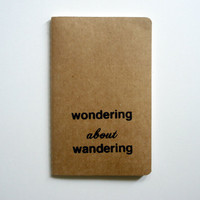 wondering about wandering moleskine notebook black by fifiduvie