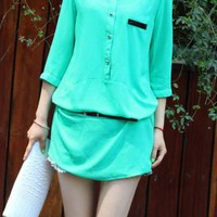 3/4 sleeved chiffon tunic