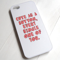 Cute as a Button Case  One Direction Marcel by CasesbyOliviaRose