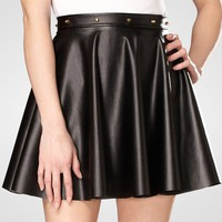 Bangles Studded Faux Leather Skirt
