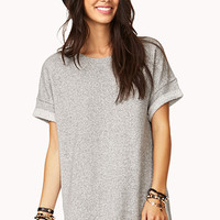Boyfriend-Inspired Marled Top