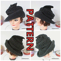 Pattern Crochet Hat Cloche Brim Couture by strawberrycouture