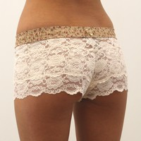 FOXERS -  Blush Lace Boxers