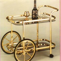 BEAUTIFUL NEW BIG WHEEL SERVING CART