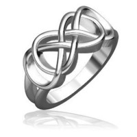Double Infinity Symbol Ring, Best Friends Forever Ring, Sisters Ring