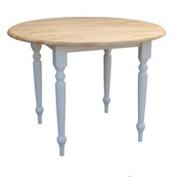 Target Marketing Systems 40 Inch Drop Leaf Table, White/Natural