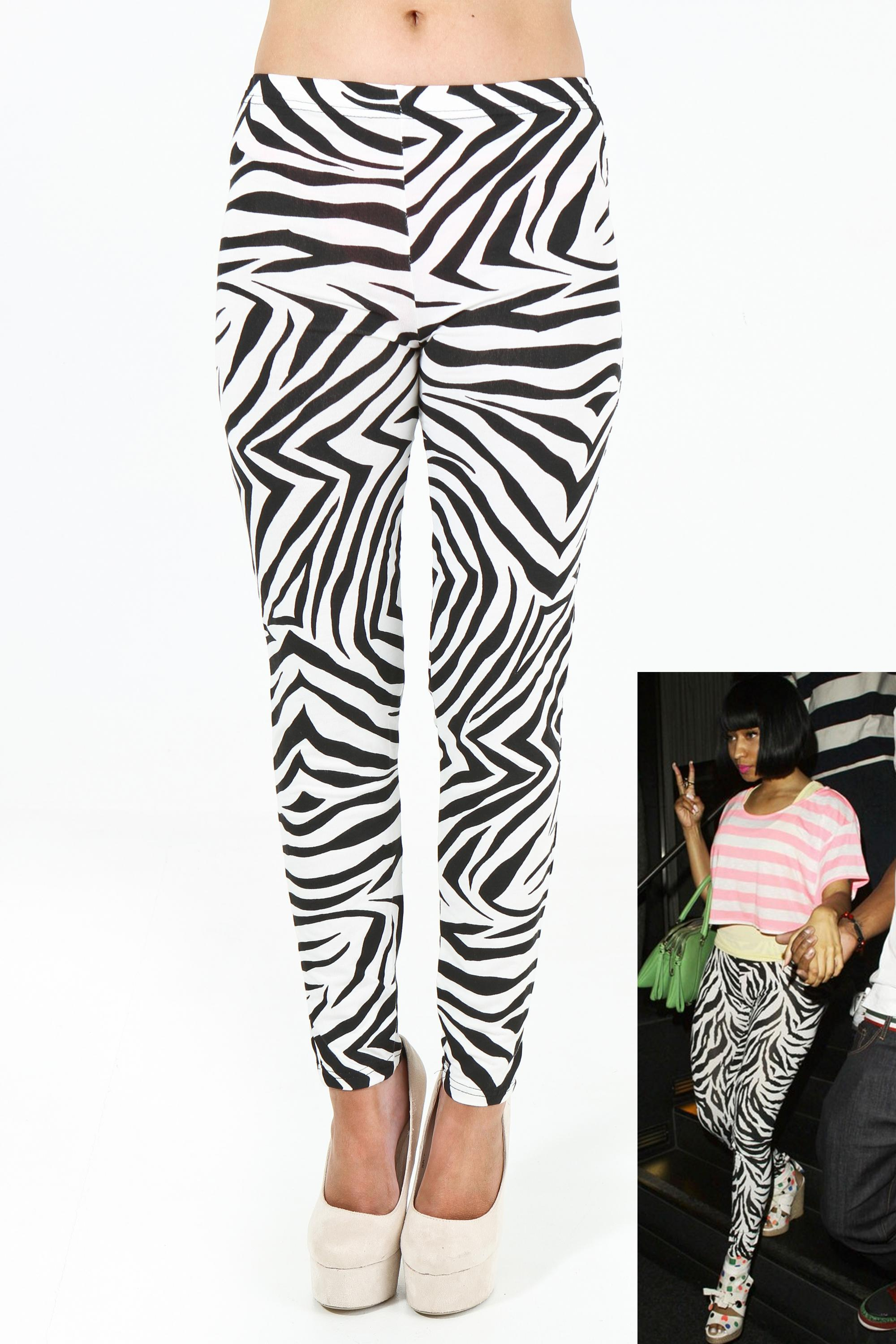Zebra Printed Leggings 8