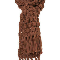Mushroom Chunky Knit Bobble Scarf - Scarves  - Accessories  - Topshop USA