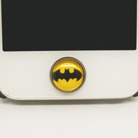 1PC Retro Epoxy Batman Transparent Time Gem Alloy iPhone Home Button Sticker for iPhone 4s,4g, 5, iPad Back to School Gift for Boy