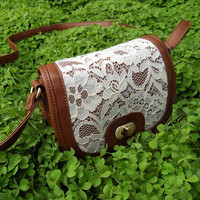 Unique Fresh Lace Messenger Bag &Shoulder Bag