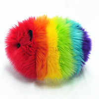 Rainbow Guinea Pig Stuffed Toy Plush  Large Size