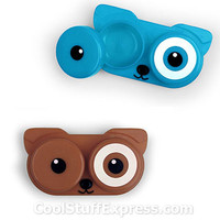 Dog Whimsical Retro-Style Contact Lens Case, Fun & Unique Gifts