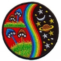 Mushroom Hippie Weed Boho Retro Pot Lsd Love Peace Applique Iron-on Patch T-24 Made of Thailand:Amazon:Home & Kitchen