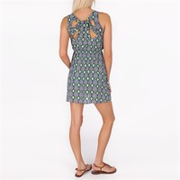 Soprano Juniors Printed Woven Dress with Cutout Back at Von Maur