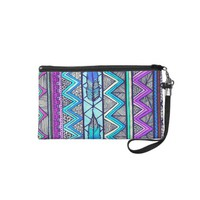 Two Feathers (color version 3) Wristlet