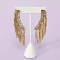 Chained Fringe Earrings in  Accessories at Nasty Gal