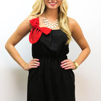 MACA Clothe · Black Dress with Red Bow