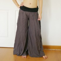 Gray GYPSY PANTS CASUAL by kolonclothes on Etsy