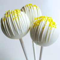 Lemon Cake Pops - Cake Pops - White Chocolate Lemon Cake Pops