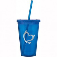 Bad Girls Club Blue Grey Heart Tumbler