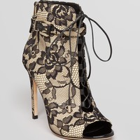 B Brian Atwood Open Toe Lace Up Booties - Linford2 High Heel | Bloomingdale's