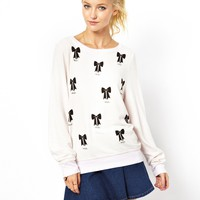 Wildfox | Wildfox Baby Bow Baggy Beach Jumper at ASOS