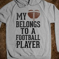 MY HEART BELONGS TO A FOOTBALL PLAYER (BASEBALL TEE)