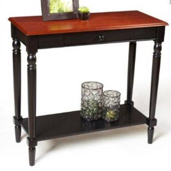 Convenience Concepts 6042188 French Country Foyer Table with Drawer and Shelf, Natural