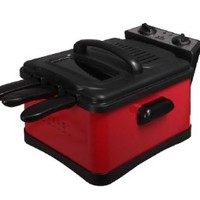 Kings Brand Red Deep Fryer With 3 Baskets
