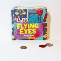 Small Fabric Pouch Small Zipper Pouch Small Change Purse -  Flying Eyes